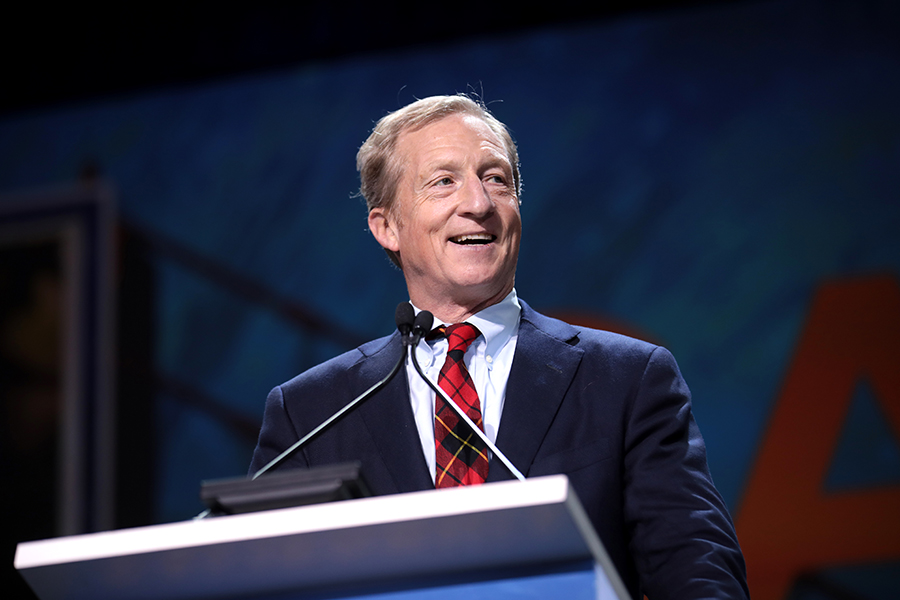 Tom Steyer is apart of the Democratic party running for the next election