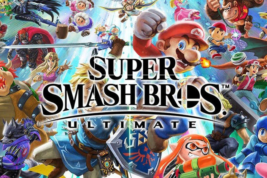 Super Smash is a game featuring multiple game characters from Nintendo and multiple other franchises fighting it out.