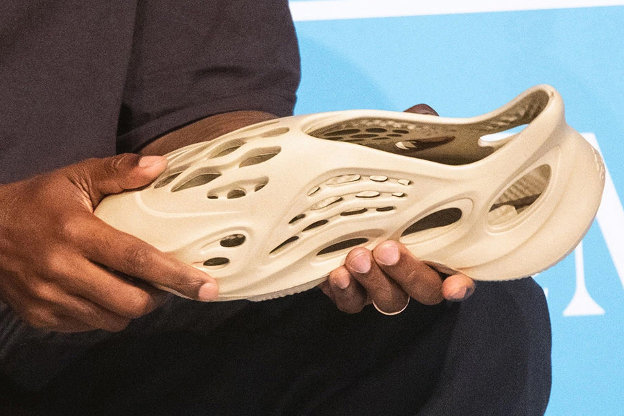 Kanye West announced new Yeezy shoes made from algae foam.