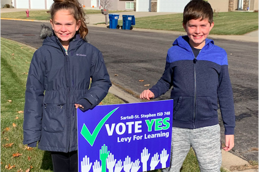 Even the youngsters in our district are happy the school levy passed last night.