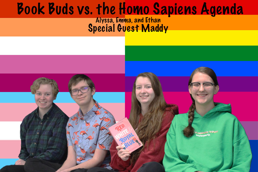 Book Buds is a group of SHS students who love to talk about literature.  Image photoshopped by Ethan Johnstone