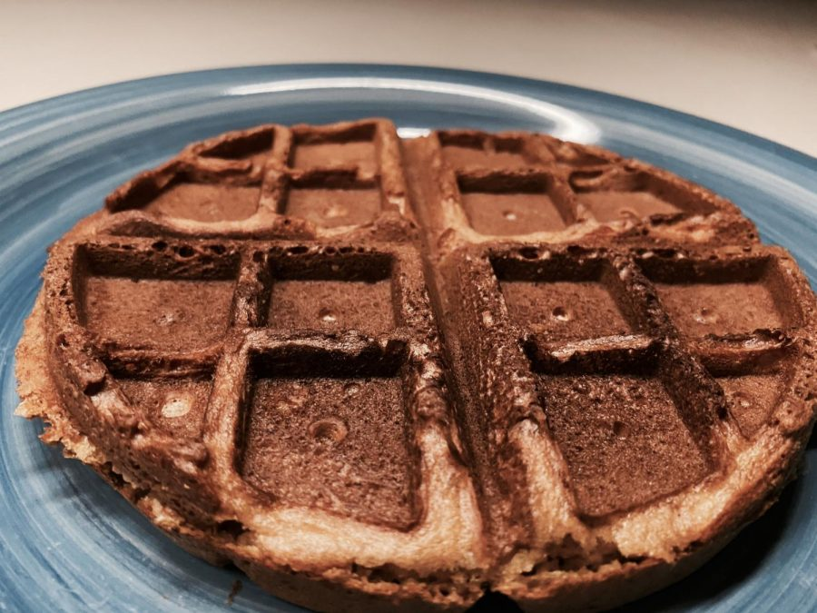 A slightly overcooked waffle is the perfect shade of caramelly brown.