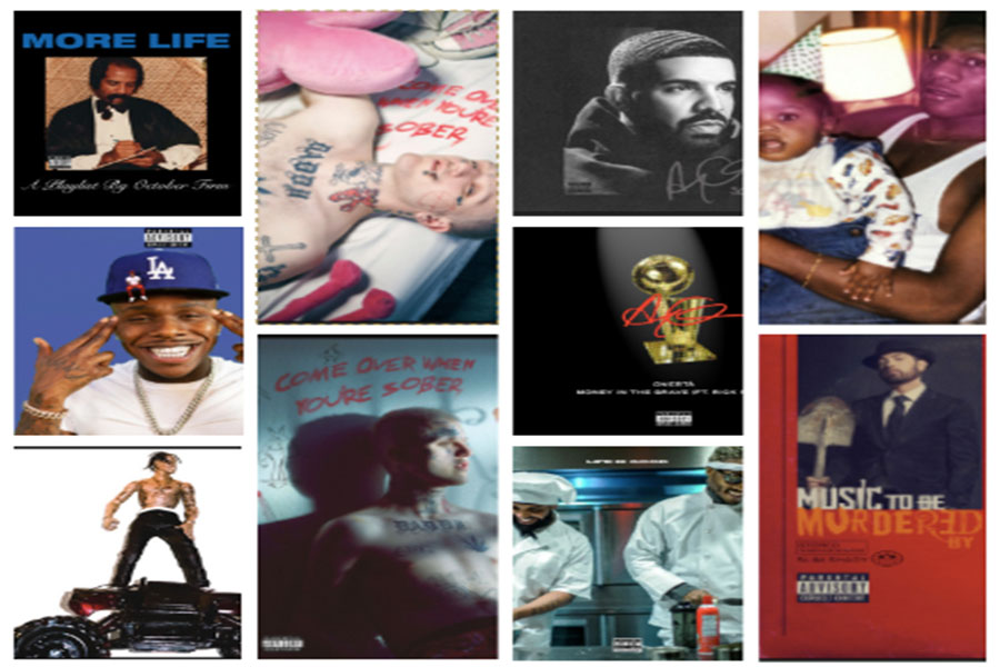 Some of the most popular rap music among SHS students.