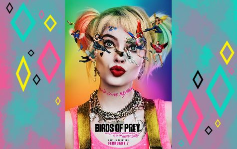 The main Birds of Prey poster, very Looney Tunes oriented.