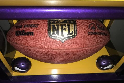A replica of a ball used in NFL games.