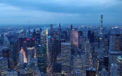 New York City skyline in Manhattan.