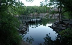 Quarry #2, the most popular among residents for swimming and cliff jumping.