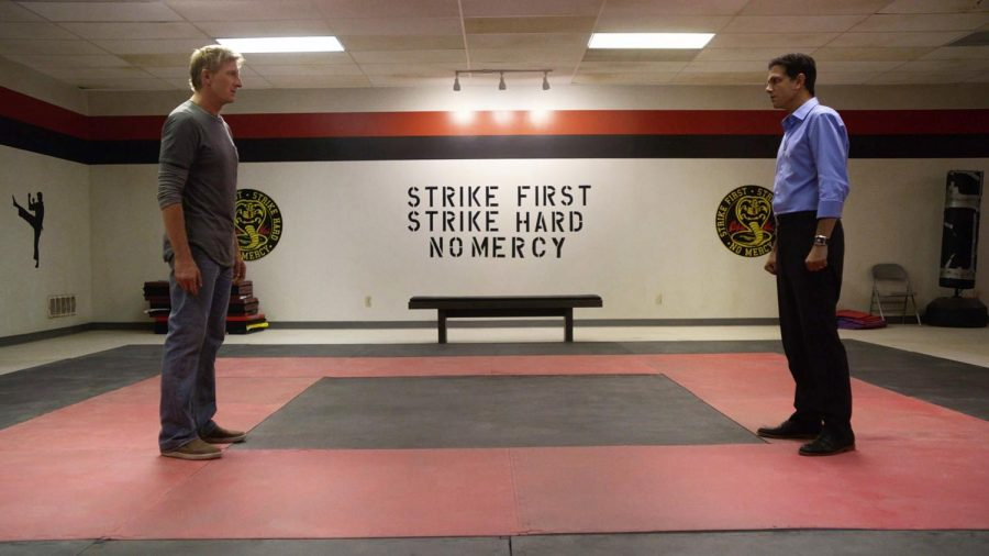 Johnny Lawrence and Daniel LaRusso find themselves in a familiar situation on the karate mat.
