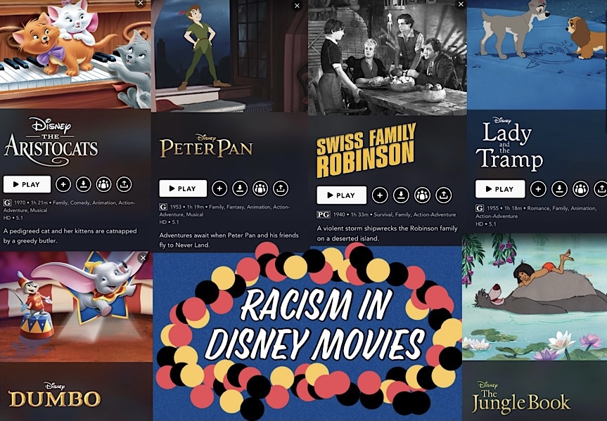 The Walt Disney Corporation strengthens their warning label on the above movies warning viewers of racist material.