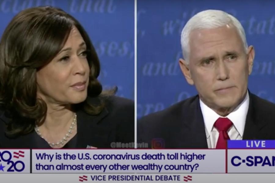Harris and Pence had a heated debate this past week.