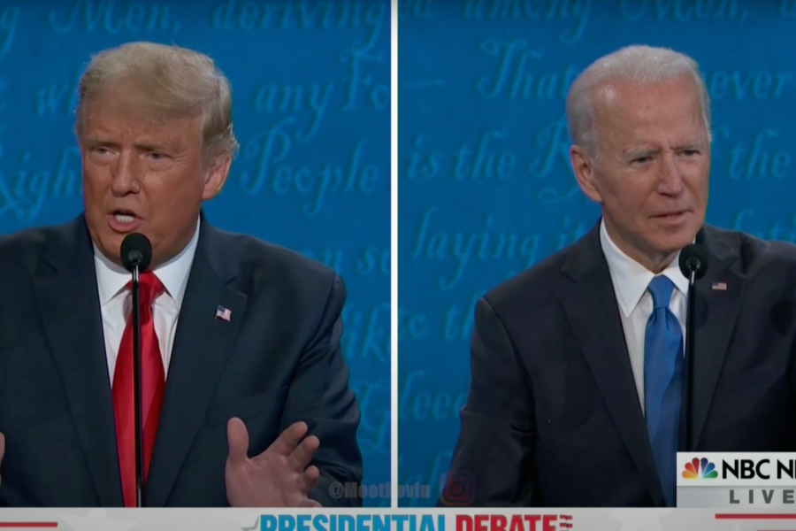 Trump and Biden being somewhat civil as they debate one last time before election.