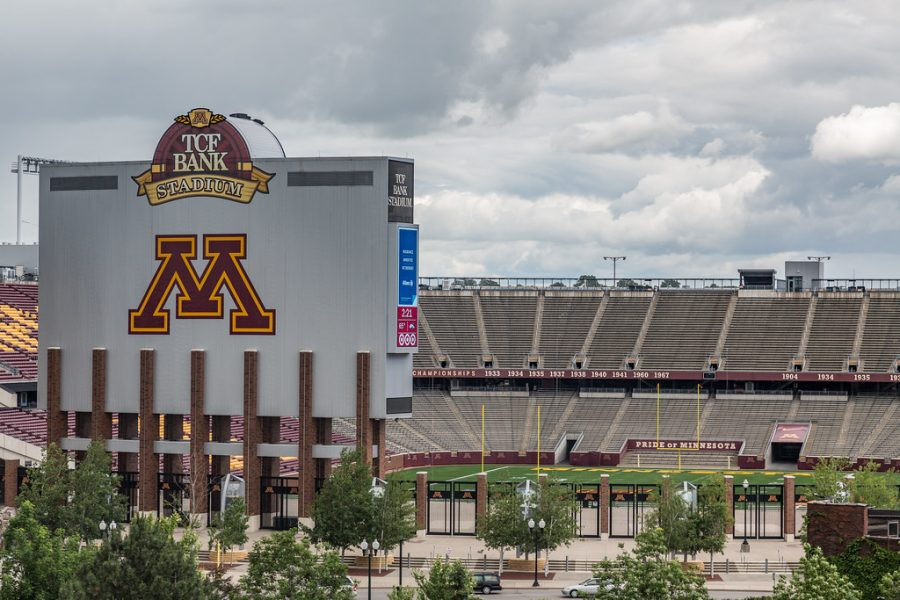 TCF Bank Stadium hosted the start of the 2020 Gopher Football season