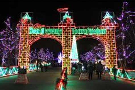 Entrance of Bentleyville  before the COVID pandemic changed everything.