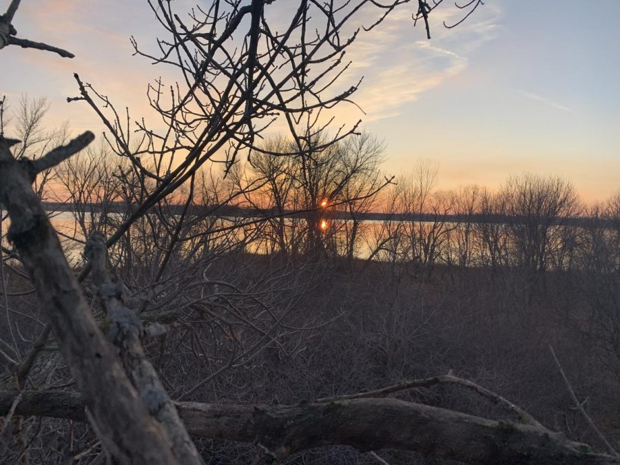 Sunset while muzzle-load hunting this previous weekend.