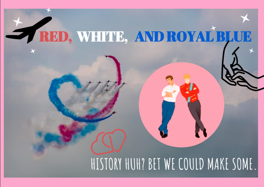 A poster for debut novel Red, White, and Royal Blue written by Casey McQuiston