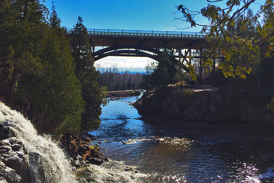 Gooseberry Falls is a great visitor destination in the Duluth area.