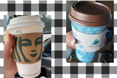 Hard decision between the two most popular coffee places in Minnesota, Starbucks or Caribou.
