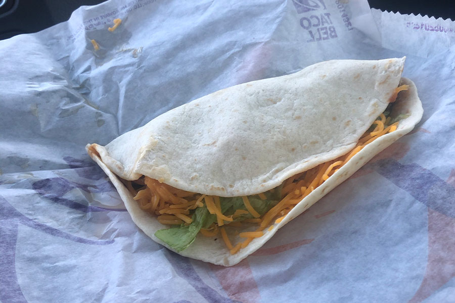 A+soft+shell+beef+taco+from+Taco+Bell