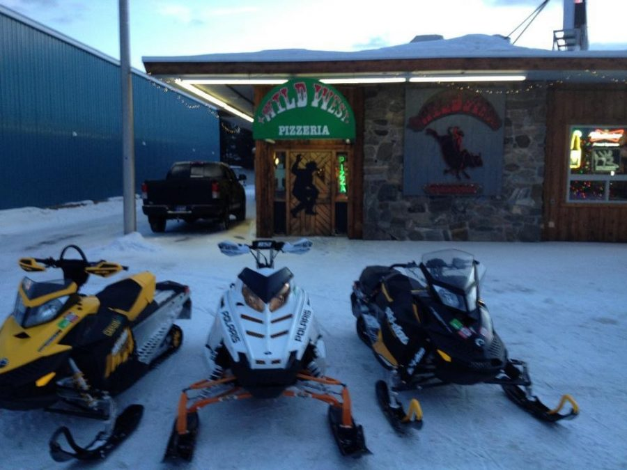 Snowmobiles Ready to ride In Wyoming