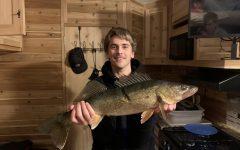 A 25 walleye we caught this 2021 ice fishing season.