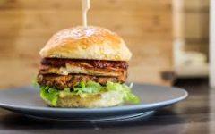 A similar image of the vegan burger we usually make