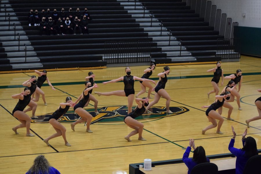 The Sartell dance team gets first place with their jazz dance 'Eye Of The Tiger'.
