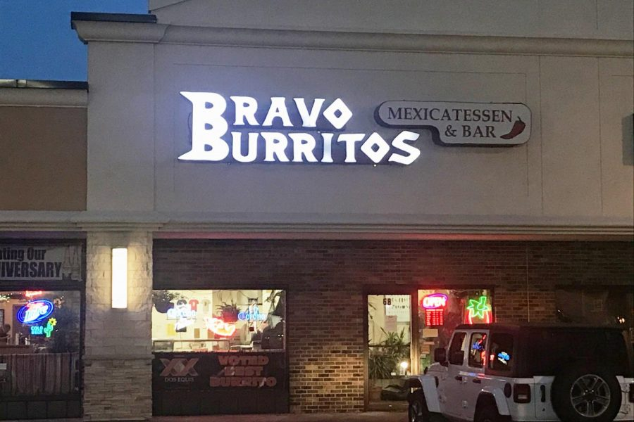 Bravo Burritos is a Tex-Mex restaurant on the corner of 33rd Ave and 1st St. S.