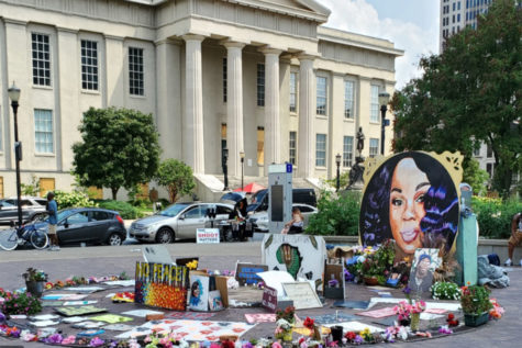 Breonna Taylor has a memorial dedicated to her in Louisville, Kentucky.