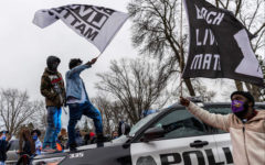 Protests in Minnesota after Duante Wright's shooting.