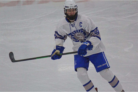 Senior Michael Webster has been playing hockey for as long as he can remember.