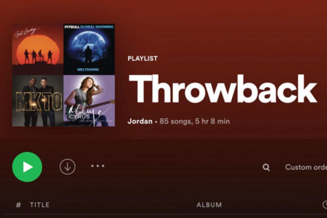 This is a screen shot from Spotify or my Throwback Playlist.