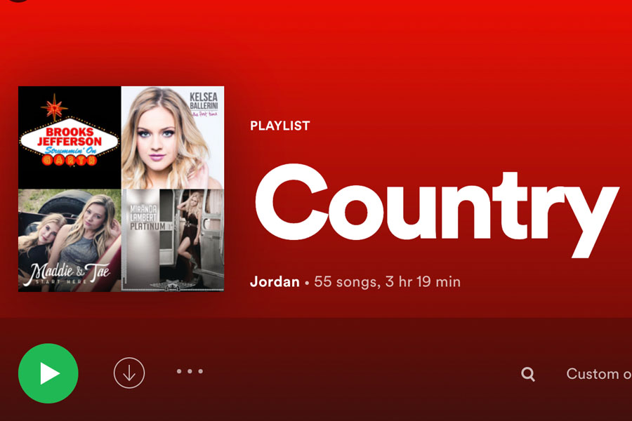 This+is+a+screenshot+from+my+Spotify+of+what+my+country+playlist+looks+like.