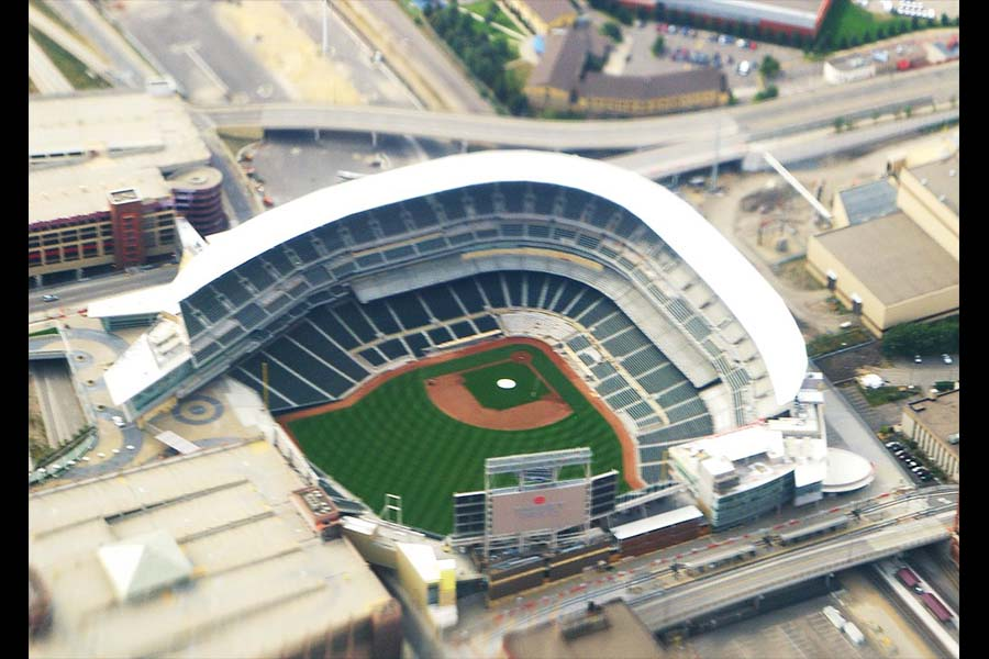 Target Field is still a sight to behold even when it's empty.