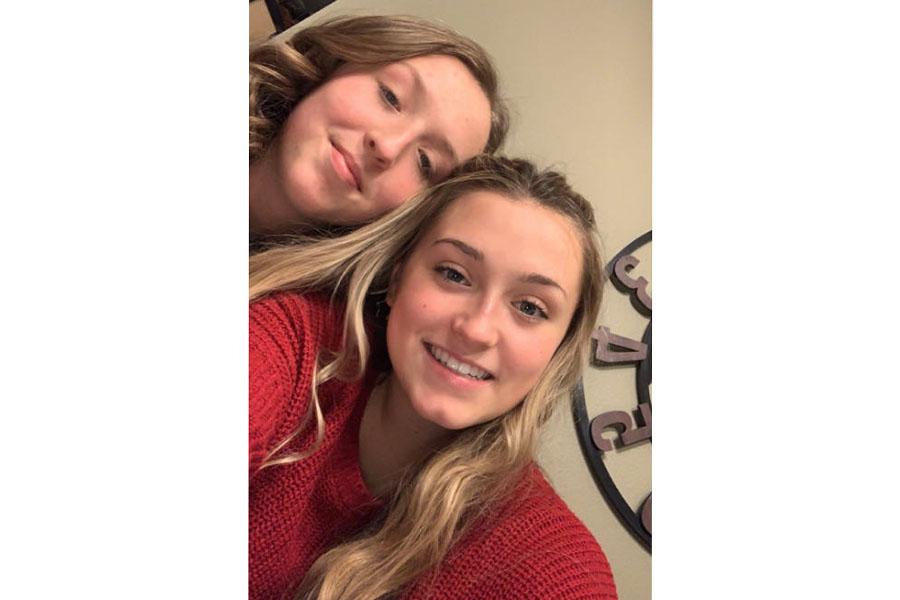 The Duea sisters at family Christmas dinner.