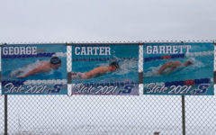 The Larson brothers are enjoying swimming together on the swim team.